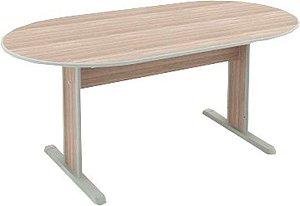 Mesa para Escritório Sala de Reunião Oval Corporativa 1,60 X 0,90 M 15 mm