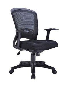 Cadeira Executiva Em Tela Escritório Home Office Com Braços