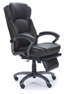 Cadeira Escritório Presidente Poltrona Home Office Apoio Pernas Relax