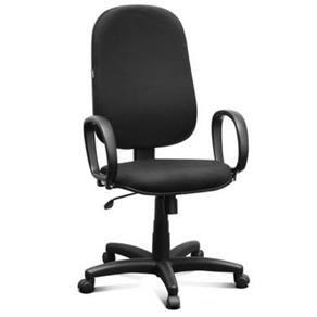 Cadeira Presidente Escritório Home Office Giratória Braço Fixo Relax