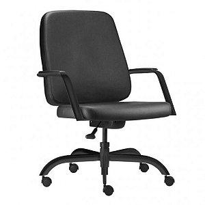 Cadeira Escritório Giratória Home Office Obeso 200 Kg Reforçada Braço Fixo
