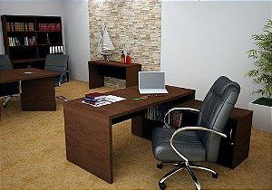 Mesa L Escritório Diretoria Home Office Armário 1,60 M 36 Mm