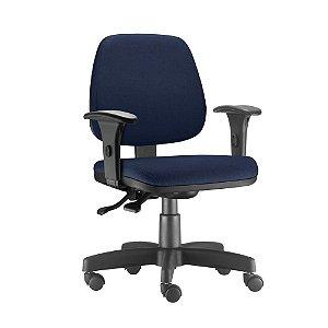 Cadeira Executiva Escritório Job Ergonômica Giratória Braços Reguláveis Home Office