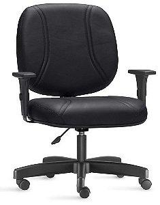 Cadeira Corporativa Escritório Obeso 150 Kg Braços Reguláveis Giratória