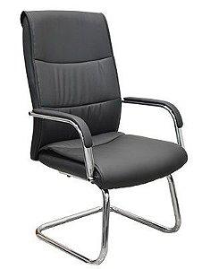 Cadeira Escritório Fixa Braços Fixos Home Office Corvin Preto