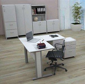 Mesa Em L Escritório Home Office 1,80 X 1,80 M 15 Mm Escrivaninha