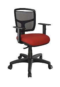 Cadeira Home Office Ergonômica Nr 17 Tela Executiva Escritório Giratória Braços Regulaveis