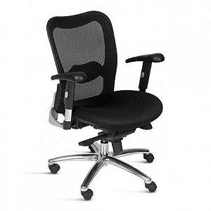 Cadeira Diretor Escritório Tela Home Office Ajuste Lombar Braços Reguláveis