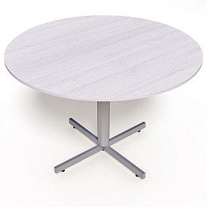 Mesa para Sala de Reunião Redonda 15 mm Ø 1,10 x 0,75 m