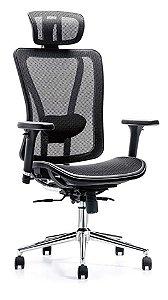 Cadeira Giratória Poltrona Escritório Presidente Home Office Tela Poltrona
