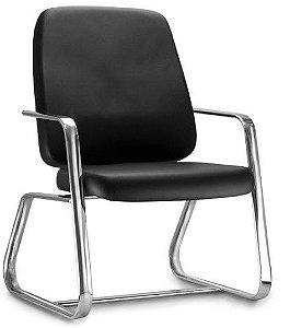Cadeira Escritório Obeso Até 200 Kg Fixa Diretor Cromada Home Office
