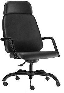 Cadeira Escritório Presidente Giratória Home Office Obeso 200 Kg Reforçada Braço Fixo