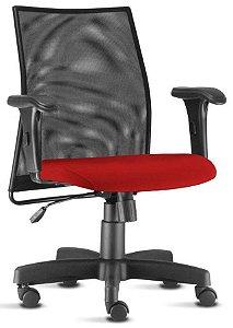 Cadeira Para Escritório Diretor Tela Mesh Giratória Liss Home Office