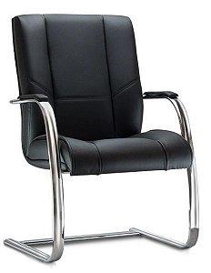 Cadeira para Escritório Fixa Cantilever Aproximação Diretor New Onix Cromada