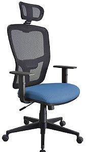 Cadeira Escritório Home Office Presidente Strike Giratória Tela Mesh Corporativa