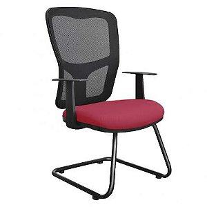 Cadeira Escritório Home Office Diretor Strike Fixa Tela Mesh Corporativa