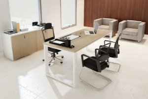 Mesa Escritório Diretoria Executiva Reta 1,40 x 0,80 x 0,75 m 36 mm Home Office