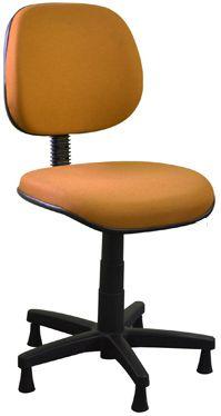 Cadeira Para Costureira Executiva Giratória Sapatas Fixas