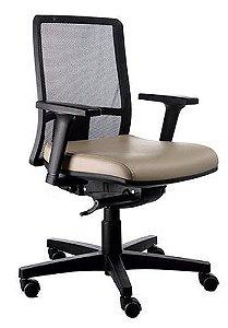 Cadeira Escritório Staff Executiva Giratória Ergonômica Corporativa Passion Tela