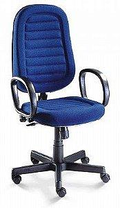 Cadeira Para Escritório Presidente Gomada Giratória Home Office Relax Braço Fixo