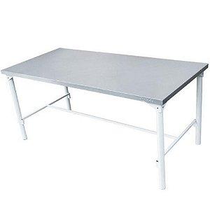 Mesa em Aço Inox de Manipulação 1,40 x 0,70 x 0,85 m Restaurante Cozinha