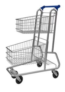 Carrinho de Compras Duplo 90 Litros Supermercado Mercado