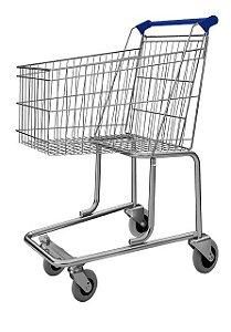 Carrinho de Compras 130 Litros Supermercado Mercado