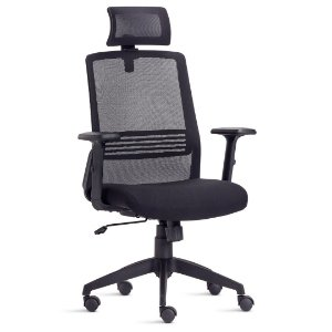 Cadeira Presidente Joy Apoio de Cabeça Braços Reguláveis Apoio Lombar
