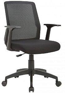 Cadeira Executiva Joy Braços Fixos Encosto em Tela Mesh Home Office