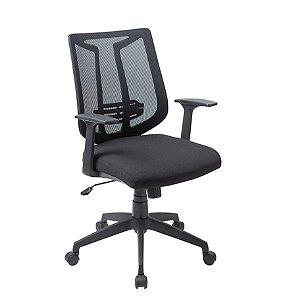 Cadeira para Escritório Diretor Giratória Home Office Braços Fixos Relax Apoio Lombar