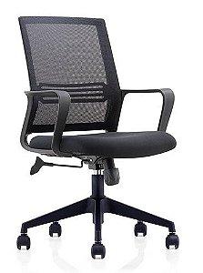 Cadeira Giratória Executiva Escritório Home Office Relax Braços Fixos