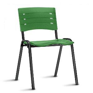 Conjunto 5 Cadeiras Fixa 4 Pés New Iso Multiuso Plastica