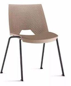 Conjunto 5 Cadeiras Fixa 4 Pés Strike Multiuso Plastica Empilhavel