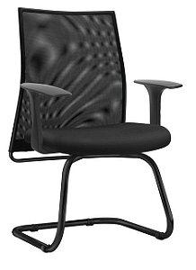Cadeira para Escritório Fixa Cantilever Aproximação Home Office Liss