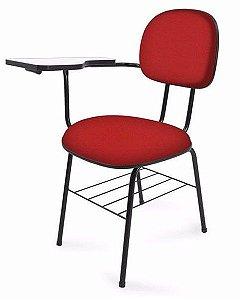 Conjunto 5 Cadeiras Secretária Universitária Com Prancheta Porta Livre Estudo