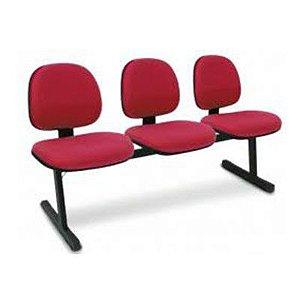 Cadeira Longarina Executiva 3 Lugares Espera Recepção Lounge