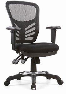 Cadeira Diretor Giratória Ergonômica Braços Reguláveis Assento com Inclinação Home Office Escritório Corporativa