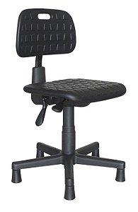Cadeira Secretária Industrial Ergonômica Sapatas em PU Giratória