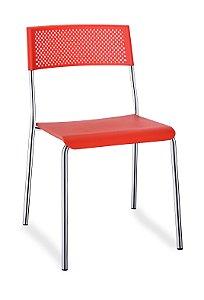 Cadeira Fixa 4 Pés Easy Multiuso Plastica Refeitório Bar Copa
