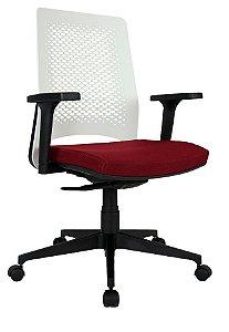 Cadeira para Escritório Diretor Wine Giratória Ergonômica Com Braços Reguláveis Home Office