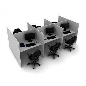 Baia Atendimento Telemarketing Call Center 2, 4, 6, 8 e 10 Lugares Móveis Escritório