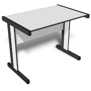 Mesa para Escritório Reta 1,60 X 0,60 M 15 Mm Light Escrivaninha Home Office