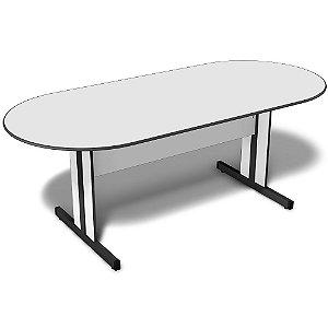Mesa para Sala de Reunião Oval 2,00 x 0,90 m 15 mm Escritório Light