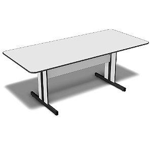 Mesa para Sala de Reunião Retangular 2,00 x 0,90 m 15 mm Escritório Light