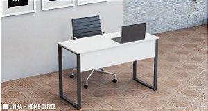Mesa para Escritório Reta Home Office Pé em Aço Tubular 0,80 x 0,50 m 15 mm Escrivaninha