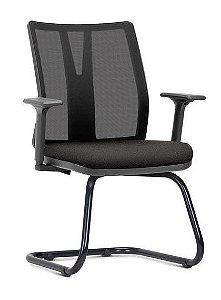 Cadeira Escritório Addit Executiva Fixa Braços Reguláveis Home Office Corporativa