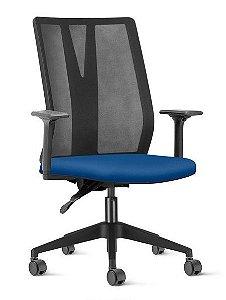Cadeira Escritório Addit Presidente Ergonômica Giratória Braços Reguláveis Home Office Corporativa
