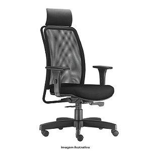 Cadeira Escritório Soul Presidente Giratória Braços Reguláveis Home Office Corporativa