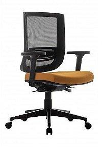 Cadeira Escritório Staff Try Ergonômica Giratória Tela Mesh Apoio Lombar Home Office Corporativa