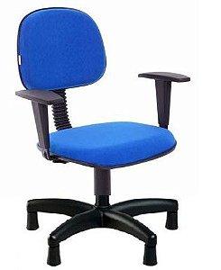 Cadeira Para Costureira Secretária Giratória Escritório Sapatas com Braços Regulaveis